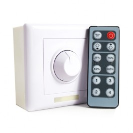 12v LED Dimmer Switch (White) - Controller Included
