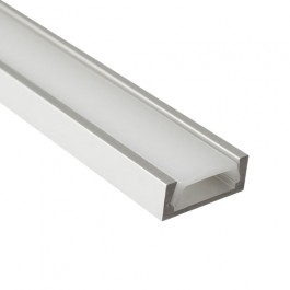 1m Thin Aluminium Profile + Clear/Frosted Diffuser